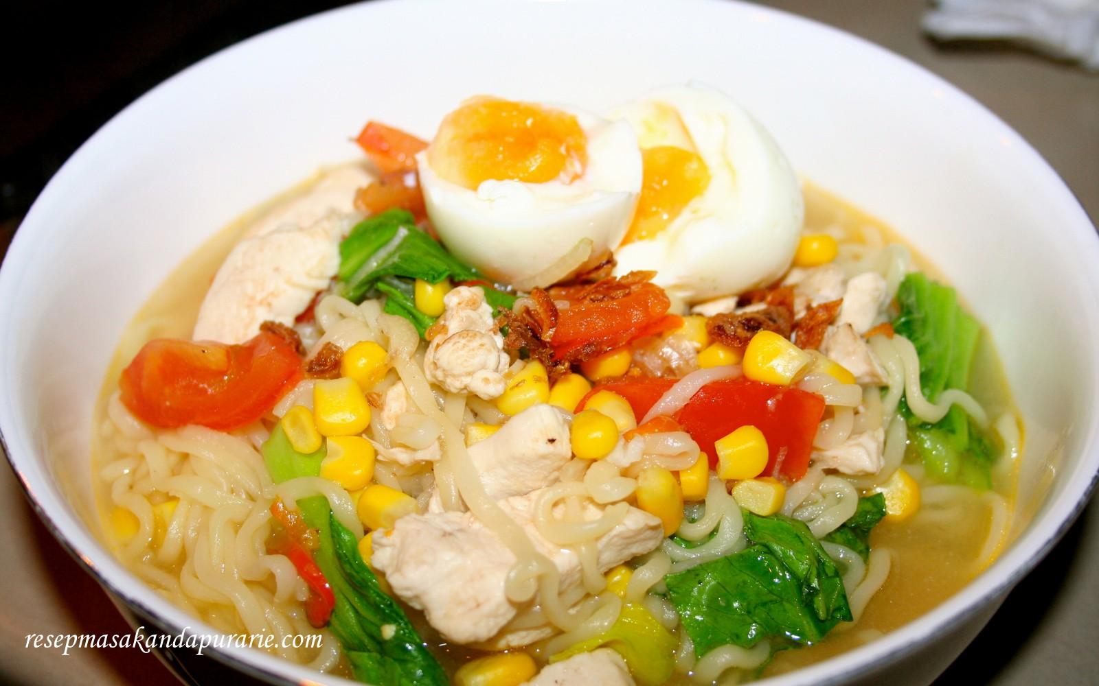 Resep Cara Membuat Mie Rebus Spesial - Resep Masakan Dapur Arie
