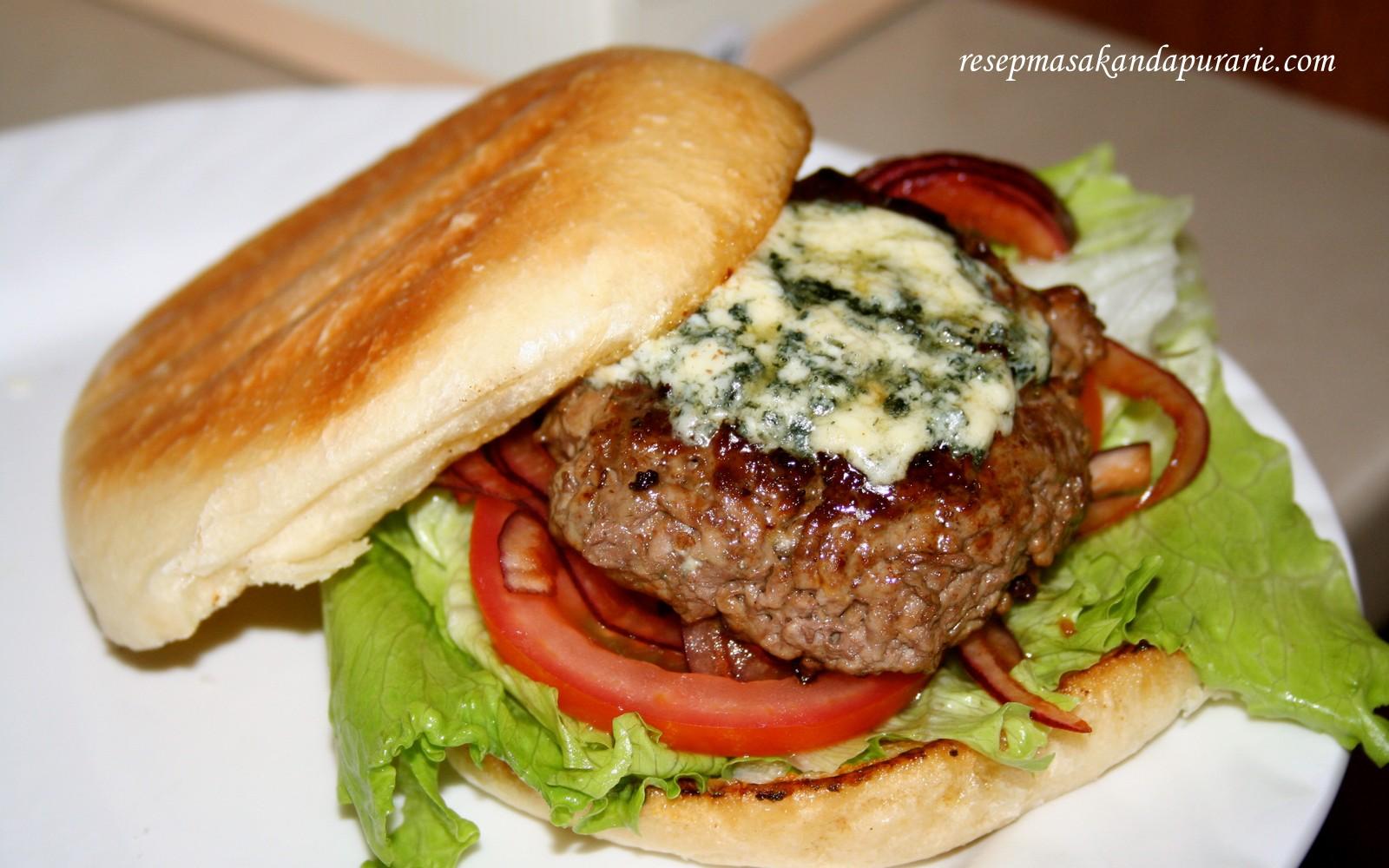 resep cara membuat burger ala jamie oliver   resep masakan