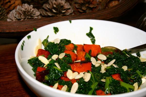 Resep cara membuat salad kale dan labu kuning