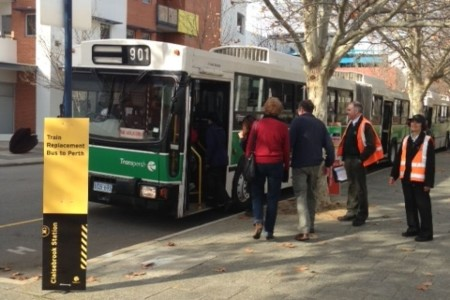 Kendaraan umum di Perth
