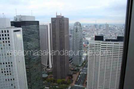 Kota Tokyo dari atas tower