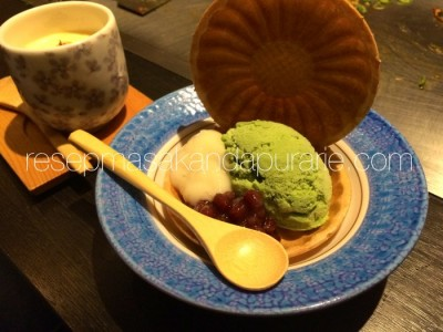 Es Krim Teh Hijau Green tea icecream