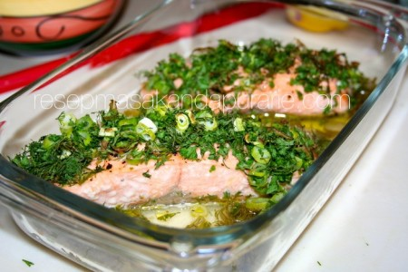 Resep Ikan Salmon Panggang Oven