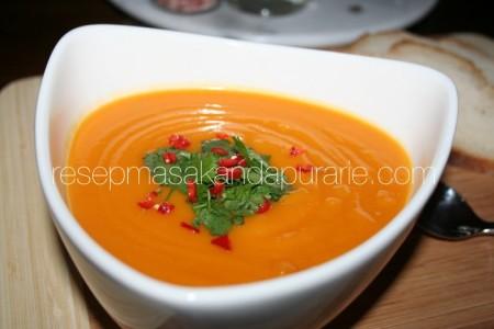 Resep Sup Labu Kuning dan Ubi Sehat.