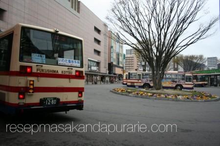 Bus ke Hanamiyama Park Fukushima