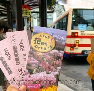 Bus ke Hanamiyama Park Fukushima Japan