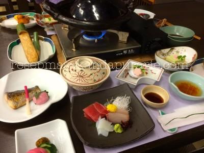 Makan malam tradisional Jepang - 4 Hari Wisata Di Hakone - bagian 2.