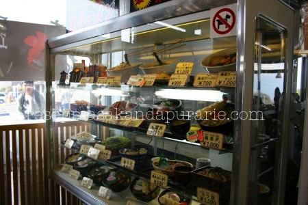 Display makanan di restaurant Owakudani - 4 Hari Wisata Di Hakone (bagian 2)- Edisi Liburan di Jepang Day 8 to 11
