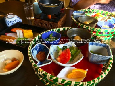 Makanan tradisional Jepang di Hakone - Ryokan