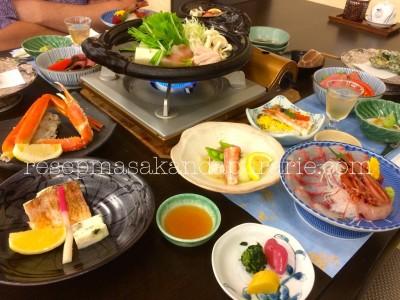 Makan malam di Ryokan - Hakone.